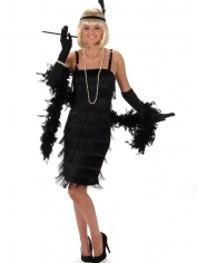 20's Black Flapper - Women's Costumes